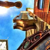 Knoxville Tennessee Theater. Downtown Knoxville looking up over the Tennessee Theater Stock Photo