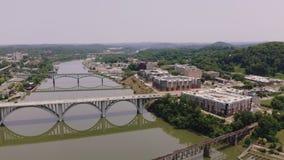 Knoxville, Tennessee, usa ?r?dmie?cie przy ?wiatowym ` s jarmarku parkiem Knoxville convention center Widok z lotu ptaka 4K zbiory wideo