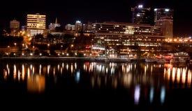 Knoxville TN (noche) Imágenes de archivo libres de regalías