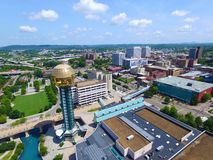 Knoxville. World's Fair Park overlooking downtown Stock Image