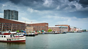 KNSM Island and Ertshaven Royalty Free Stock Photography