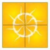 Künstlerische Sonne Auch im corel abgehobenen Betrag Stockfotografie