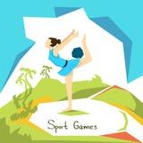 Künstlerischer Gymnastik-Mädchen-Athlet Sport Competition Lizenzfreie Stockfotos