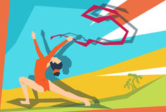 Künstlerischer Gymnastik-Mädchen-Athlet Sport Competition Lizenzfreies Stockbild
