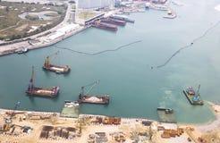 Künstliche Inseln Hong Kong Stockfotografie