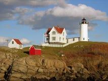 knubble latarnia morska Maine Fotografia Royalty Free
