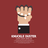Knuckle Duster In Hand. Graphic Vector Illustration Royalty Free Stock Images