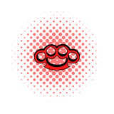 Knuckle icon, comics style. Knuckle icon in comics style on a white background Stock Image