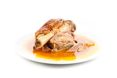 Knuckle of pork isolated on white background food meat Stock Photography