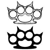 Knuckle. Vector illustration brass knuckle and silhouette Royalty Free Stock Image