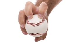 Knuckleball baseball pitching grip. Demonstrating the knuckleball baseball pitching grip Stock Photos