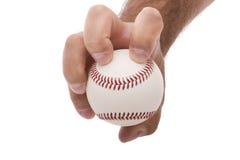 Knuckleball baseball pitching grip. Demonstrating the knuckleball baseball pitching grip stock photos
