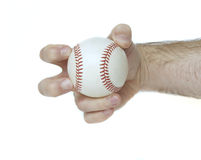 Knuckleball Grip. Illustrates how to hold a baseball to throw a knuckleball Stock Photo