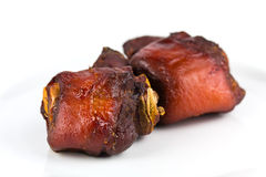 Knuckles, Pigling -  Pork Shank on White Stock Photography