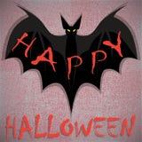 knuppel De gelukkige kaart van Halloween Vector illustratie Royalty-vrije Stock Afbeeldingen