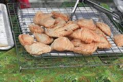 Knusperige gebratene Pastetchen von der Blätterteignahaufnahme Lizenzfreies Stockbild