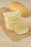 Knusperige Kartoffelchips Lizenzfreie Stockfotografie