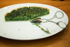 Knusperige Torte des Spinats Lizenzfreies Stockfoto