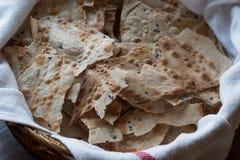 Knusperiger Flatbread Scheibe Carasau von Sardinien Dünnes Brot Lizenzfreie Stockbilder