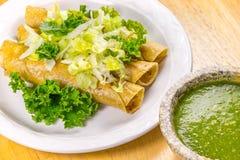 Knusperiger Fried Tacos Lizenzfreie Stockfotografie