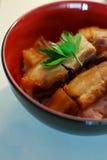 Knusperiges Hautschweinefleisch mit Reis Lizenzfreie Stockfotografie