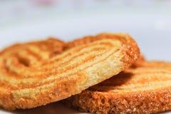 Knusperiges süßes Brot und Zucker im Abschluss oben Lizenzfreie Stockbilder