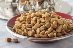 Knusprige marokkanische wohlschmeckende würzige fekkas Stockfotos