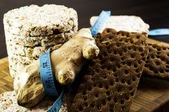 Knuspriges Brot und Ingwer Stockfoto