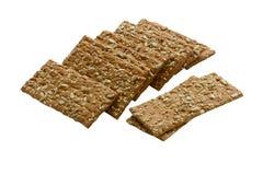 Knuspriges Brot von den ganzen Körnern Stockfotos