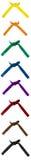 Knuten Karate kuter uppsättningen av åtta Arkivbild