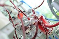 Knutpunkt av den invecklade medicinska apparaten Royaltyfri Foto