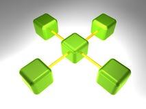 knutpunkt för nätverk 3d Arkivfoto