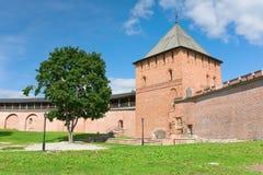Knyazhaya tower (Novgorod Kremlin, Russia) Royalty Free Stock Images
