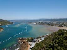 Knysna空中照片在南非 库存图片
