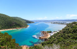 Knysna Heads. Knysna lagoon view from The Heads stock photo