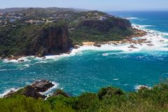 Knysna Heads view, Featherbed Nature Reserve, Knysna, South Africa. Amazing view of Knysna Heads, Featherbed Nature Reserve, Knysna, South Africa, Garden Route Stock Photography