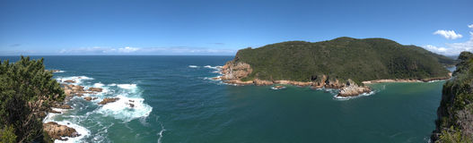 Knysna Heads, Western Cape, South Africa. A panorama of Knysna Heads, Western Cape, South Africa Stock Images