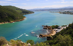 Knysna Lagoon in the Garden Route Royalty Free Stock Image