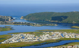 Knysna nabrzeże w Ogrodowej trasie: Południowa Afryka Zdjęcie Stock