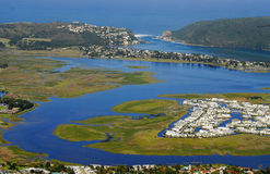 Knysna Waterfront in the Garden Route : South Africa Royalty Free Stock Photography