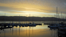 Knysna Waterfront at Sunset Stock Photography