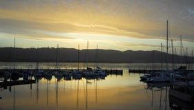 Knysna Waterfront at Sunset Stock Photography