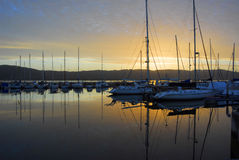 Knysna Waterfront at Sunset Royalty Free Stock Photography