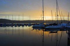 Knysna Waterfront at Sunset Royalty Free Stock Photography