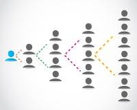 Knyta kontakt för affärsfolk Arkivfoto