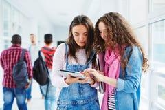 Knyta kontakt för flickor Arkivfoto