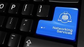 365 Knyta kontakt service som flyttar rörelse på knappen för datortangentbord royaltyfri illustrationer