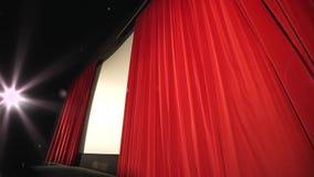 Końcowa zasłona w kinie - nowożytny kino zbiory wideo
