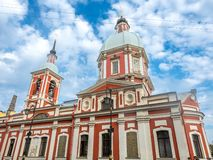 Kościół St Panteleimon uzdrowiciel, Rosja obraz stock