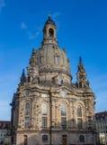 Kościelny Frauenkirche kościół dziewica w Drezdeńskim, jeden znaczący Luterańscy kościół miasto fotografia stock